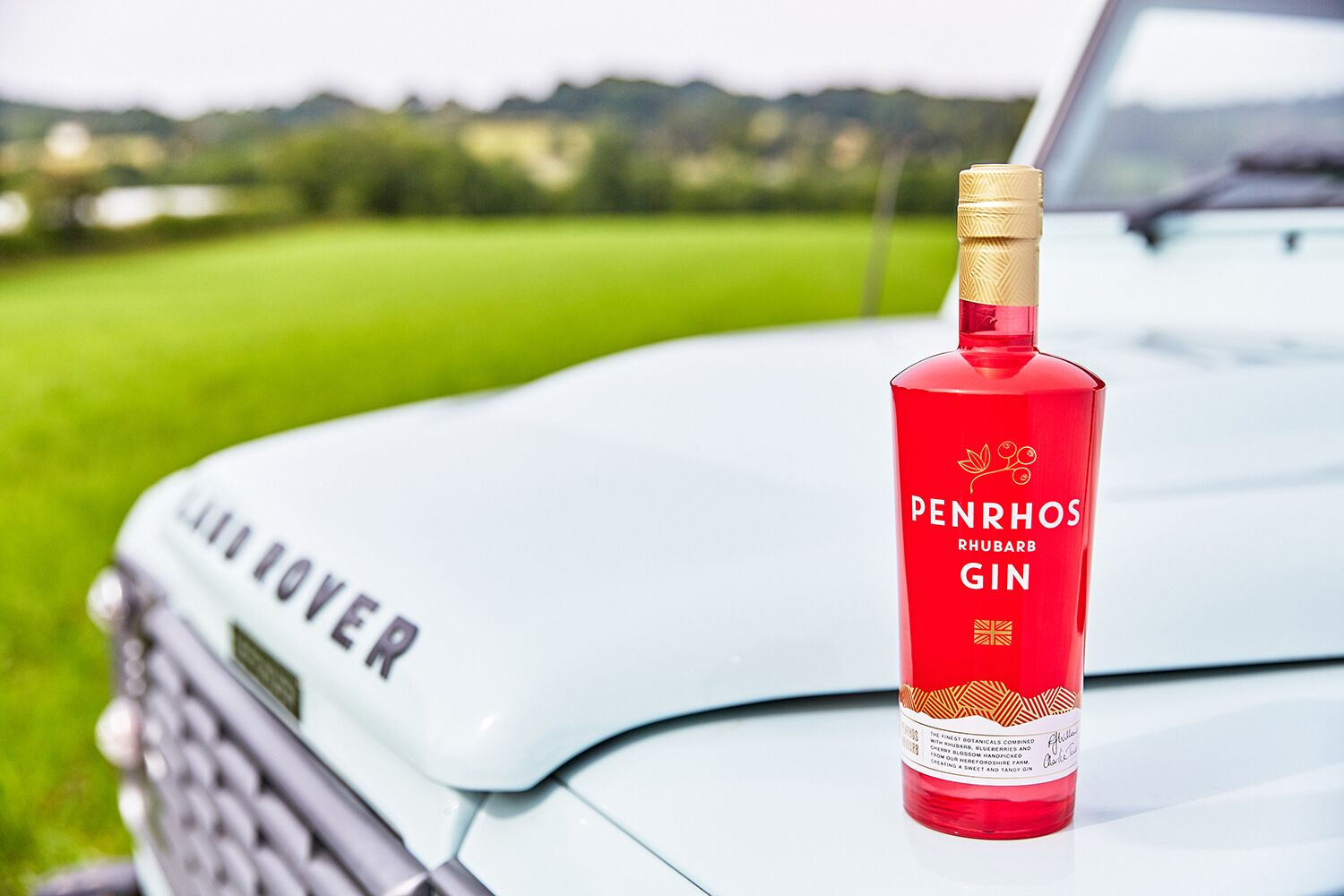 Rhubarb Gin on Land Rover