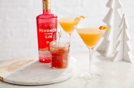 Penrhos Rhubarb Breakfast Martini